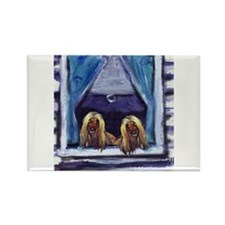 AFGHAN HOUND window Rectangle Magnet