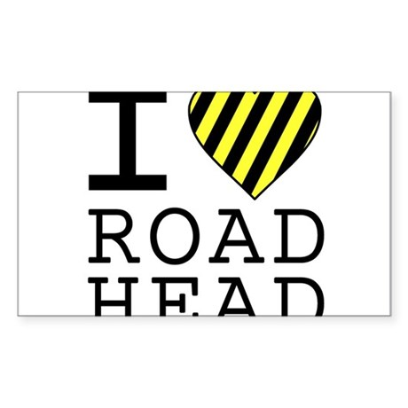 I Love Road Head Rectangle Sticker