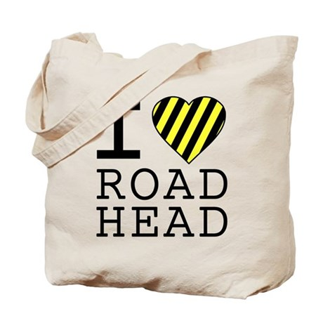 I Love Road Head Tote Bag