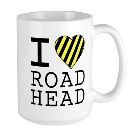 I Love Road Head Large Mug