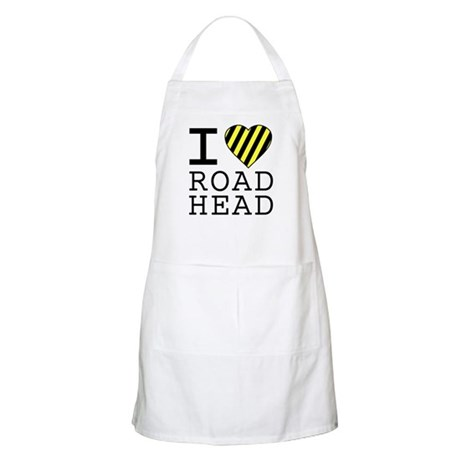 I Love Road Head BBQ Apron