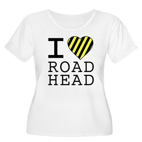 I Love Road Head Womens Plus Size Scoop Neck T-Sh