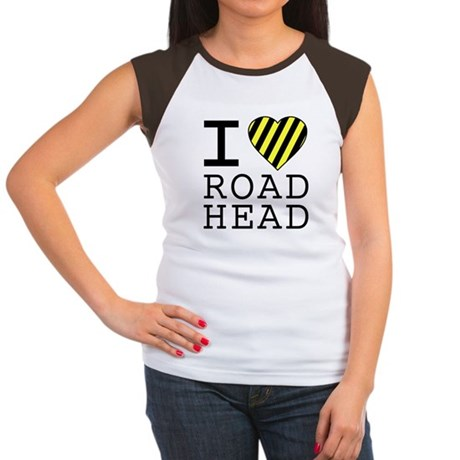 I Love Road Head Womens Cap Sleeve T-Shirt