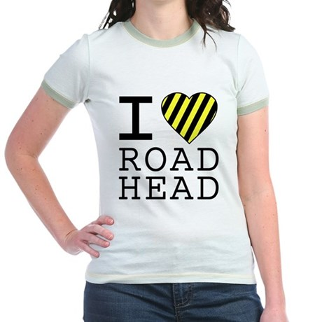 I Love Road Head Jr Ringer T-Shirt