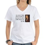 Thomas Paine 19 Women's V-Neck T-Shirt