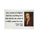 Thomas Paine 19 Rectangle Magnet (100 pack)