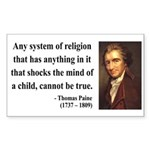 Thomas Paine 19 Rectangle Sticker