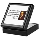 Thomas Paine 19 Keepsake Box