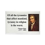 Thomas Paine 21 Rectangle Magnet