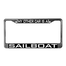Sailboat License Plate Frame