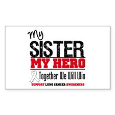 Lung Cancer Hero Rectangle Sticker 10 pk)