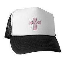 Pink Hope Cross Trucker Hat