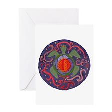 Cosmic Sea Turtle Greeting Card