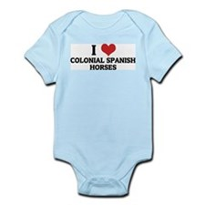I Love Colonial Spanish Horse Infant Creeper