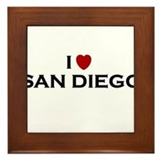 Cute I heart san diego Framed Tile
