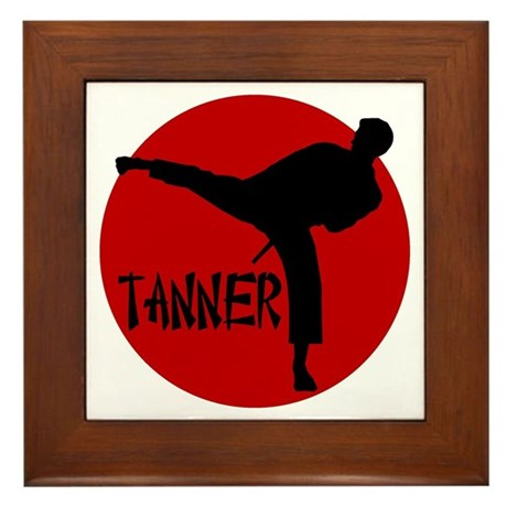 -Tanner Karate Framed Tile