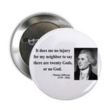 "Thomas Jefferson 9 2.25"" Button"