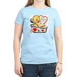 Ducky Valentine Women's Light T-Shirt