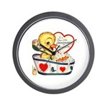 Ducky Valentine Wall Clock
