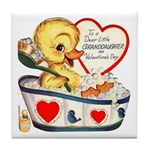 Ducky Valentine Tile Coaster