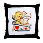 Ducky Valentine Throw Pillow