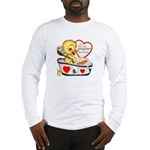 Ducky Valentine Long Sleeve T-Shirt