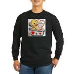 Ducky Valentine Long Sleeve Dark T-Shirt