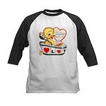 Ducky Valentine Kids Baseball Jersey