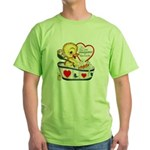 Ducky Valentine Green T-Shirt