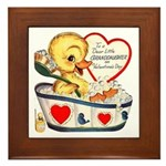 Ducky Valentine Framed Tile