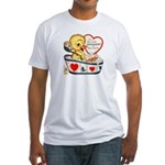 Ducky Valentine Fitted T-Shirt