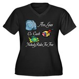 Funny Ass, Gas, or Cash Desig Women's Plus Size V-