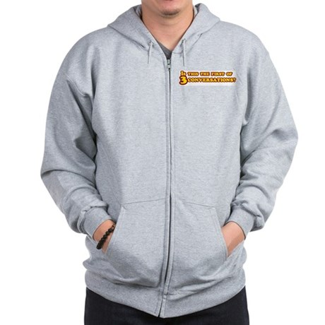 Three Conversations Zip Hoodie