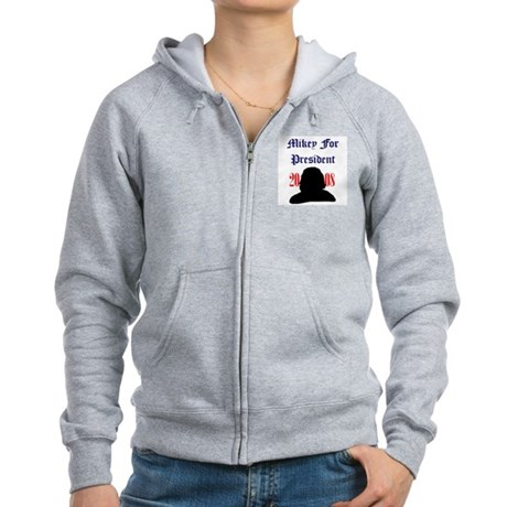 Mikey For President Women's Zip Hoodie