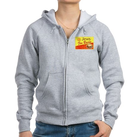 Jews For Bacon Women's Zip Hoodie