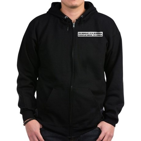 It's Summer. I'm Single. Zip Hoodie (dark)