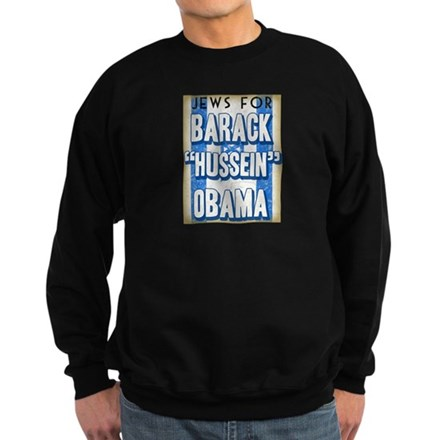 Jews For Barack Obama Sweatshirt (dark)