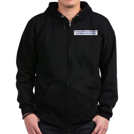 Ride with Ted Kennedy Zip Hoodie (dark)