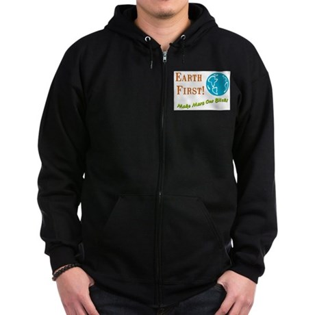 Earth First Zip Hoodie (dark)