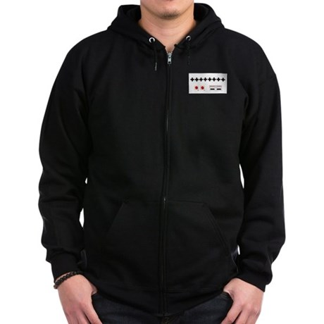 Old School NES Contra Code Zip Hoodie (dark)