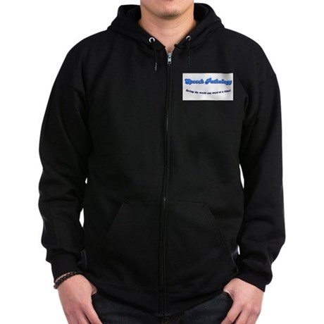 Speech Pathology Zip Hoodie (dark)
