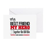 LungCancerHero Best Friend Greeting Cards (Pk of 1