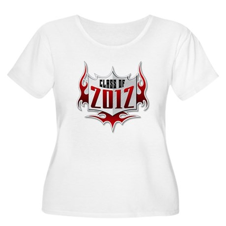 Class of 2012 Flames Women's Plus Size Scoop Neck