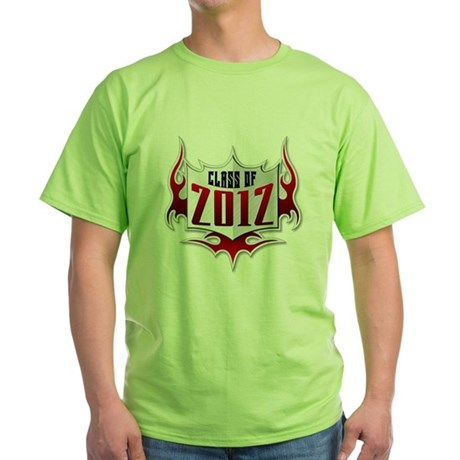 Class of 2012 Flames Green T-Shirt