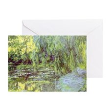 MONET Water Lily Pond Willow Greeting Cards (10Pk)