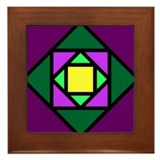 Diamond in a Square Framed Tile