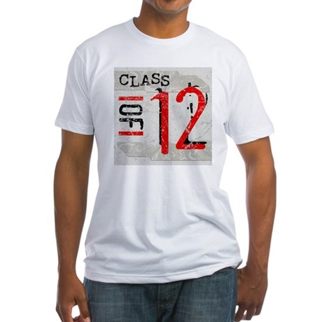 Class of 12 Grunge Fitted T-Shirt