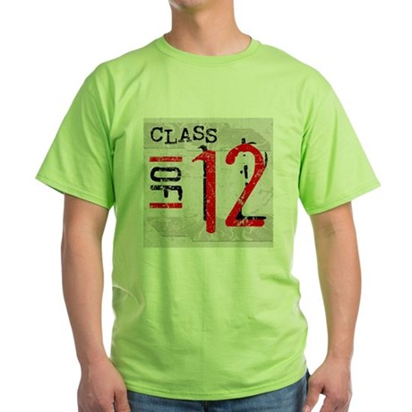 Class of 12 Grunge Green T-Shirt