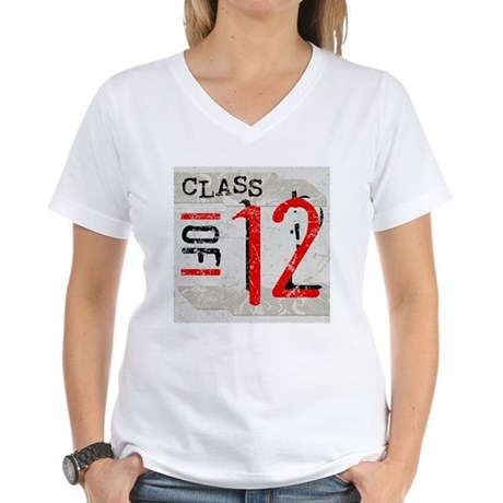 Class of 12 Grunge Women's V-Neck T-Shirt