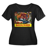 Shriner Women's Plus Size Scoop Neck Dark T-Shirt